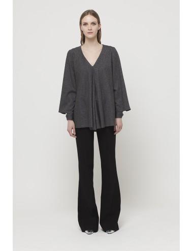 Dark grey Soft jersey maxi t-shirt