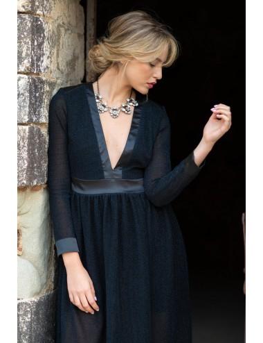Long Net Fabric Dress
